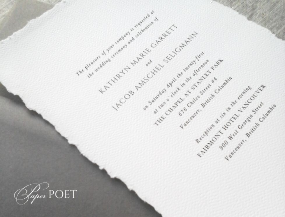 Hand Deckled Invitations