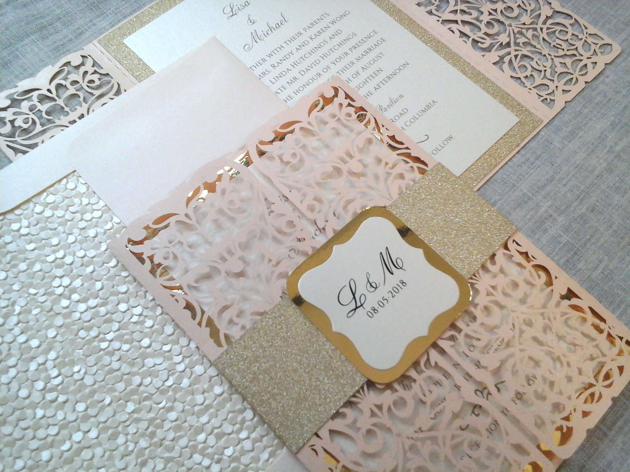 Lisa and Mike – Laser cut  with a touch of glitter